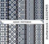 asian vector pattern web page... | Shutterstock .eps vector #622029905