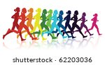 running girl | Shutterstock .eps vector #62203036