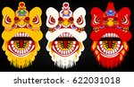Set Of Chinese Lion Head...