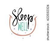 Sleep Well Vector Lettering...