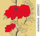 retro stylized seamless | Shutterstock .eps vector #62203417