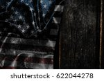 usa flag on a wood surface | Shutterstock . vector #622044278