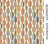 stylish wave line seamless...   Shutterstock . vector #622046558