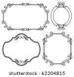 vintage frames | Shutterstock .eps vector #62204815