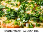 pizza from chicken with herbs...