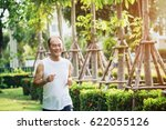 blurry picture of adult man... | Shutterstock . vector #622055126