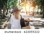 blurry and soft focus beautiful ... | Shutterstock . vector #622055222