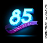 85th anniversary 3d text with... | Shutterstock .eps vector #622065098