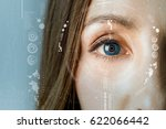human eye and graphical... | Shutterstock . vector #622066442
