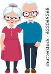 elderly loving couple husband... | Shutterstock .eps vector #622069268
