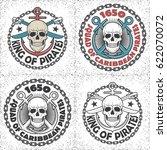 vintage vector skull logo.... | Shutterstock .eps vector #622070072