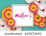 mothers day greeting card.... | Shutterstock .eps vector #622072442