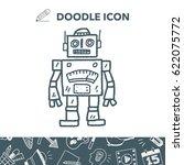 doodle robot | Shutterstock .eps vector #622075772