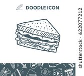 doodle sandwich | Shutterstock .eps vector #622077212