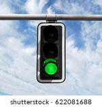 green traffic light against... | Shutterstock . vector #622081688