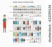 character creation cashierman | Shutterstock .eps vector #622090136