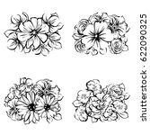 flower set | Shutterstock . vector #622090325