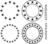 stars in circle vector...
