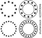 Stars In Circle Vector...