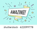 ribbon banner with text amazing ... | Shutterstock . vector #622099778