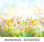 abstract colorful flowers...   Shutterstock . vector #622102322