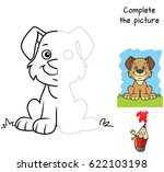 funny little dog. complete the... | Shutterstock .eps vector #622103198
