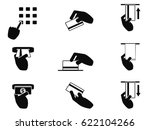 atm hand control icons set | Shutterstock .eps vector #622104266
