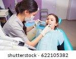 close up of pretty little girl... | Shutterstock . vector #622105382