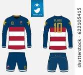 set of soccer kit or football...   Shutterstock .eps vector #622105415