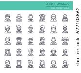 people avatars   thin line and... | Shutterstock .eps vector #622108862
