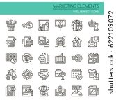 marketing elements    thin line ...   Shutterstock .eps vector #622109072