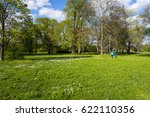 spring in the park with... | Shutterstock . vector #622110356