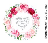 romantic wedding floral vector... | Shutterstock .eps vector #622112402