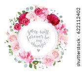 romantic wedding floral vector... | Shutterstock .eps vector #622112402