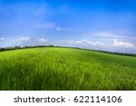 green field and blue sky with... | Shutterstock . vector #622114106
