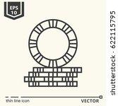 pile of poker chip. vector... | Shutterstock .eps vector #622115795