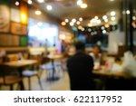 blurred background restaurant | Shutterstock . vector #622117952