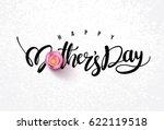 happy mother's day calligraphy... | Shutterstock .eps vector #622119518