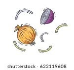 hand drawn onion isolated on...