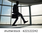 happy business leader dancing... | Shutterstock . vector #622122242