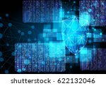 network security shield with... | Shutterstock .eps vector #622132046