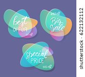 sale badges and special offer... | Shutterstock .eps vector #622132112