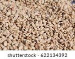 raw coffee beans sun dried... | Shutterstock . vector #622134392