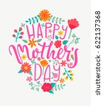 happy mother's day card with... | Shutterstock .eps vector #622137368