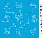robotics concept diagram in...   Shutterstock .eps vector #622140308