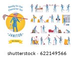 ready to use character set.... | Shutterstock .eps vector #622149566