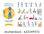 ready to use character set.... | Shutterstock .eps vector #622149572