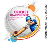illustration of batsman playing ... | Shutterstock .eps vector #622150082