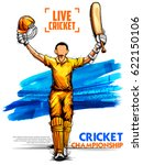 illustration of batsman playing ... | Shutterstock .eps vector #622150106