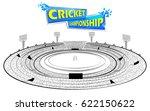 illustration of stadium of... | Shutterstock .eps vector #622150622